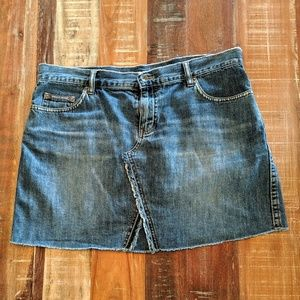 DKNY Jeans Distressed Denim Skirt Size 13